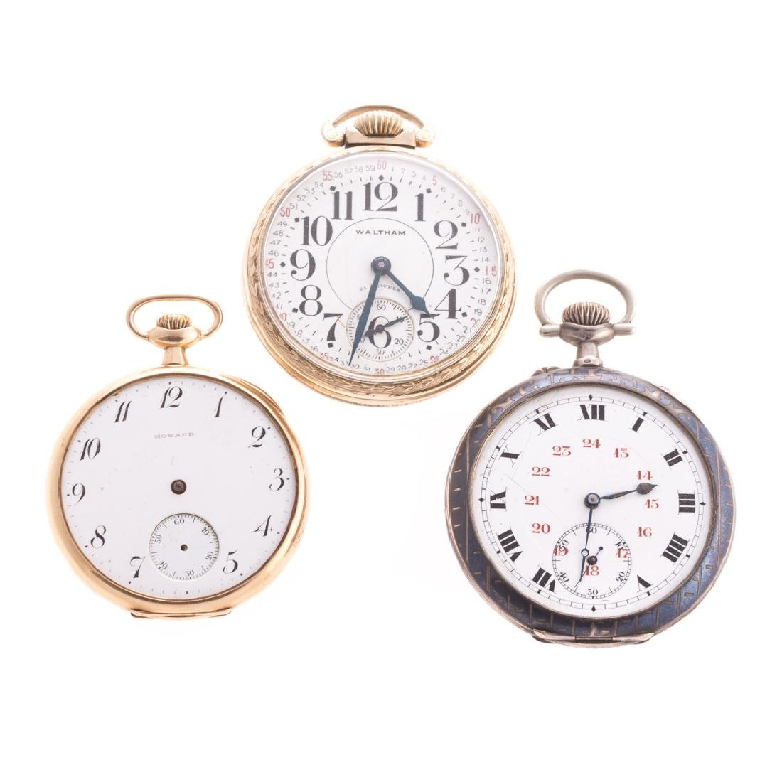 A Trio of Gent's Pocket Watches