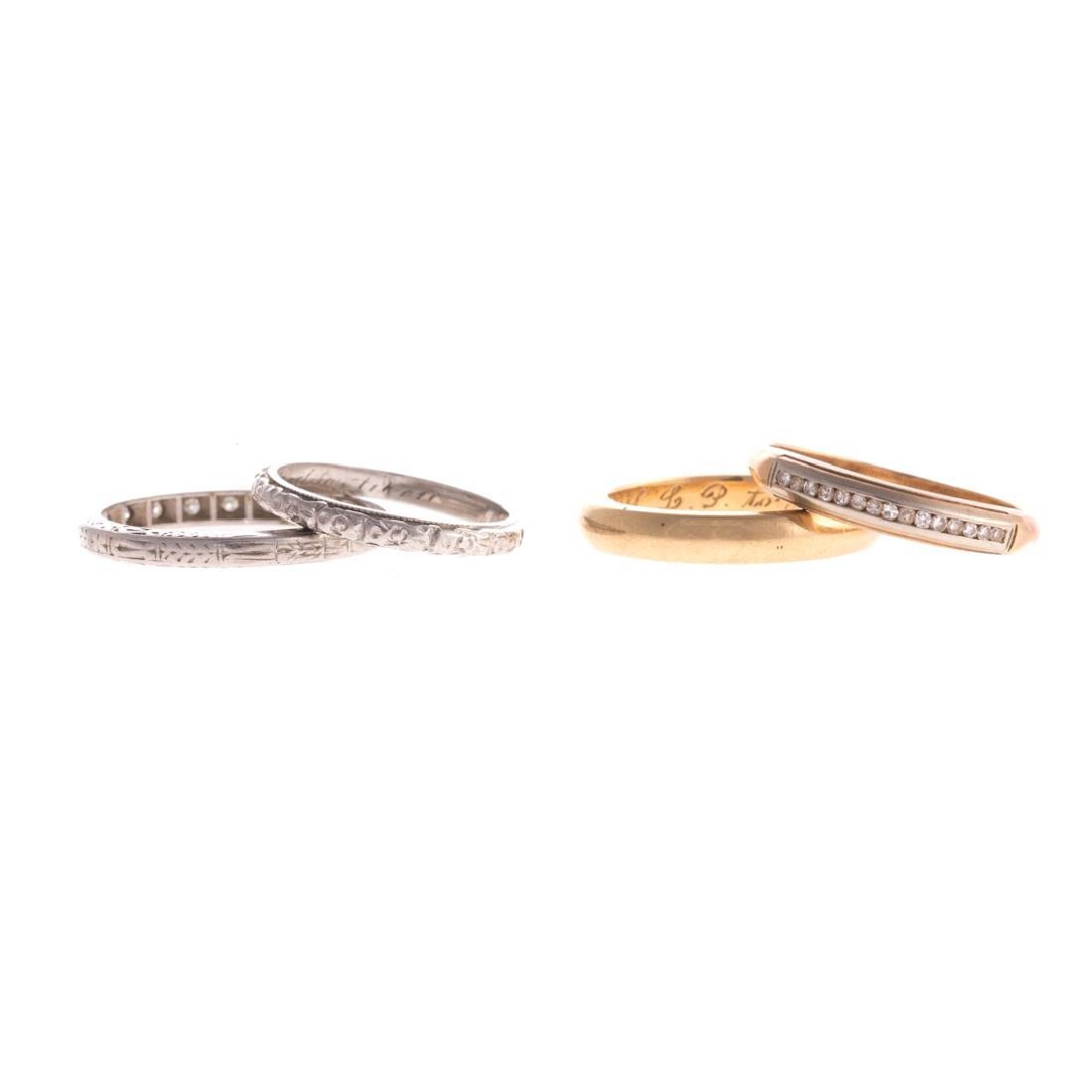A Collection of Gold & Platinum Wedding Bands