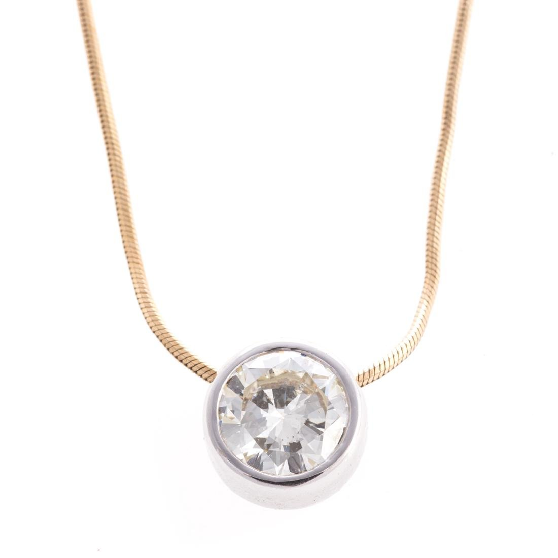 A Lady's 2.20 ct. Diamond Pendant in 14K Gold