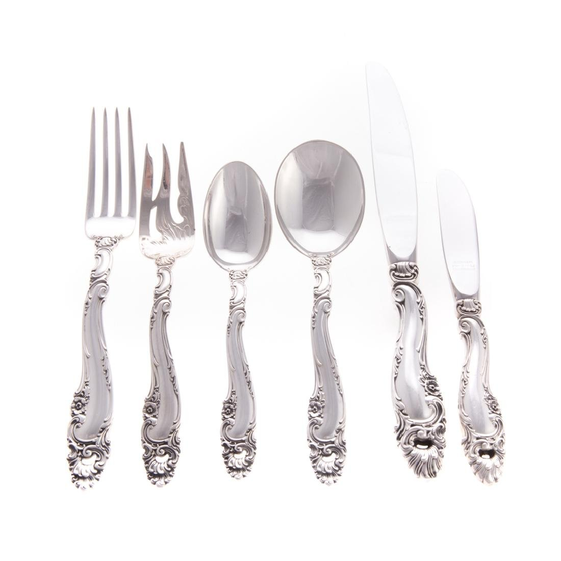 "Gorham ""Decor"" sterling silver 72-pc flatware"