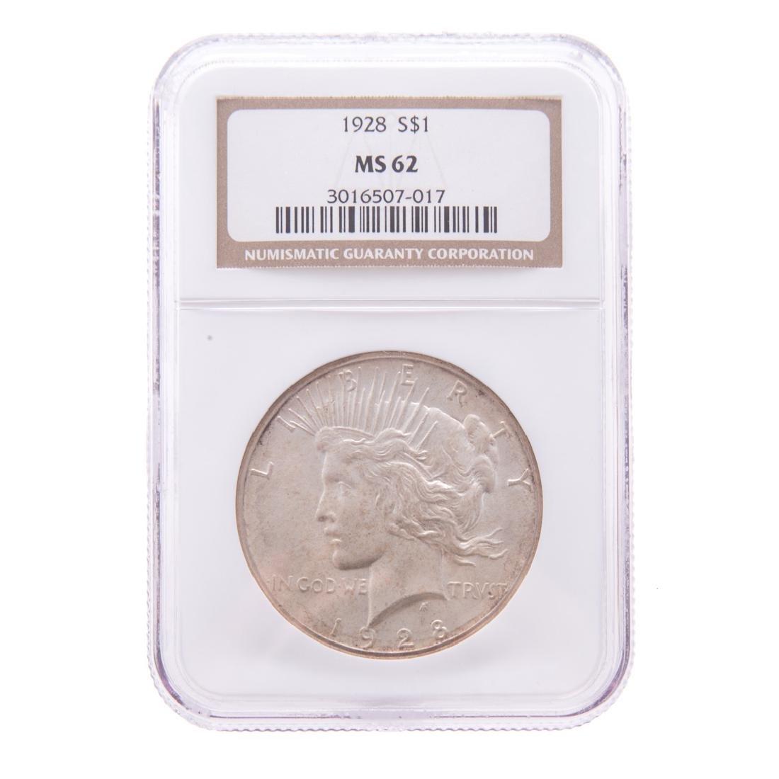 [US] 1928 Peace Dollar NGC MS-62