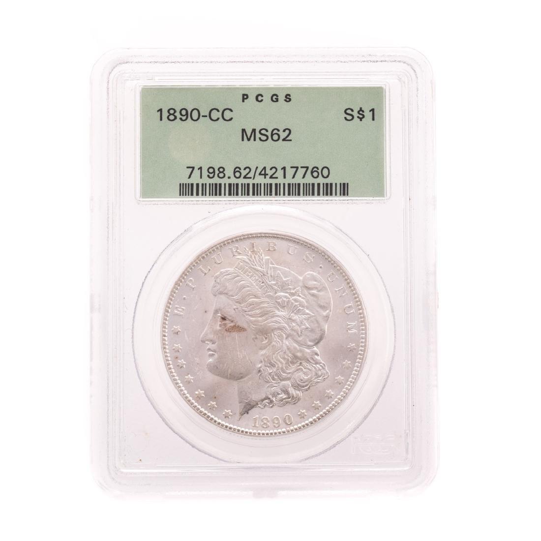 [US] 1890-CC Morgan Dollar PCGS 62