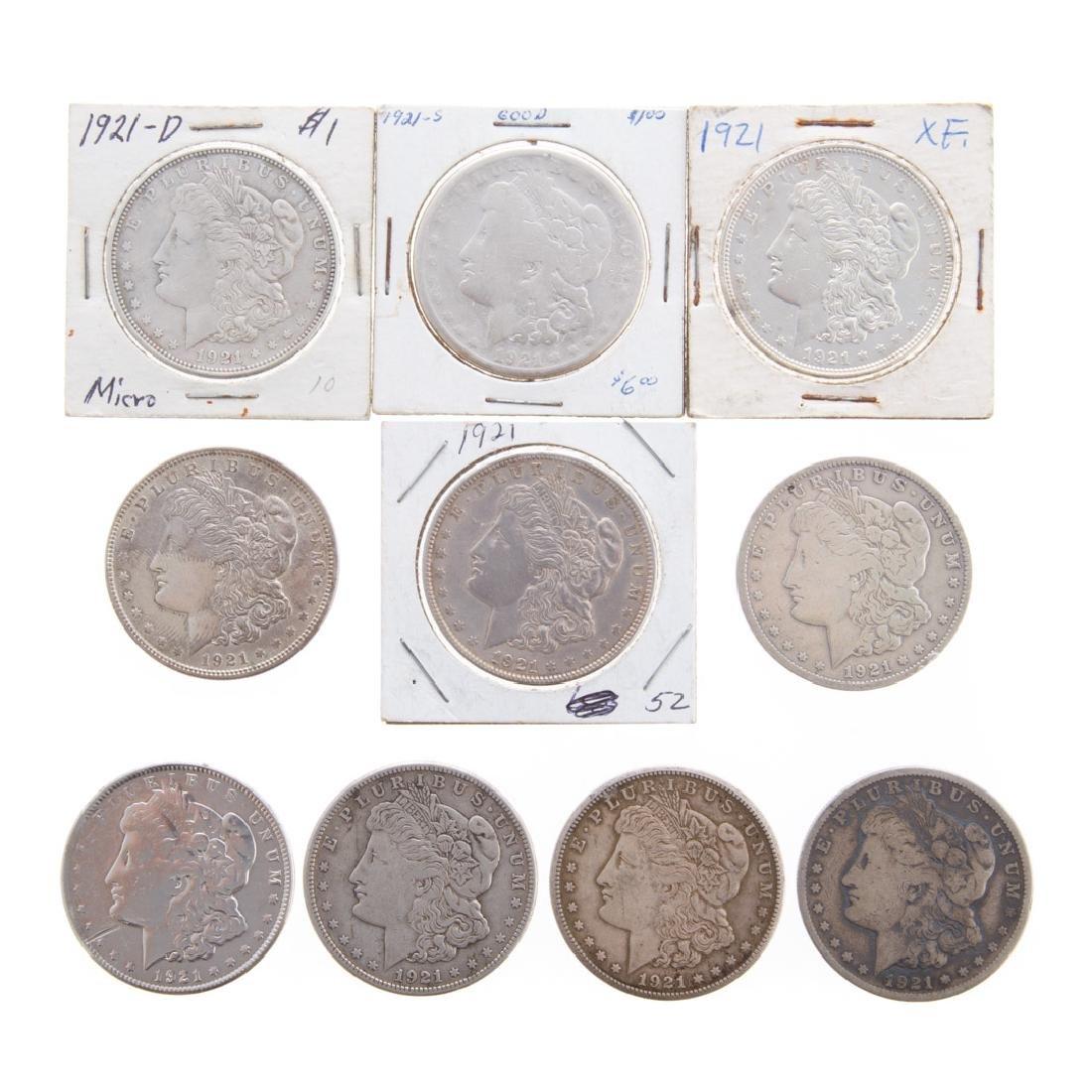 [US] Ten 1921 Morgan Dollars