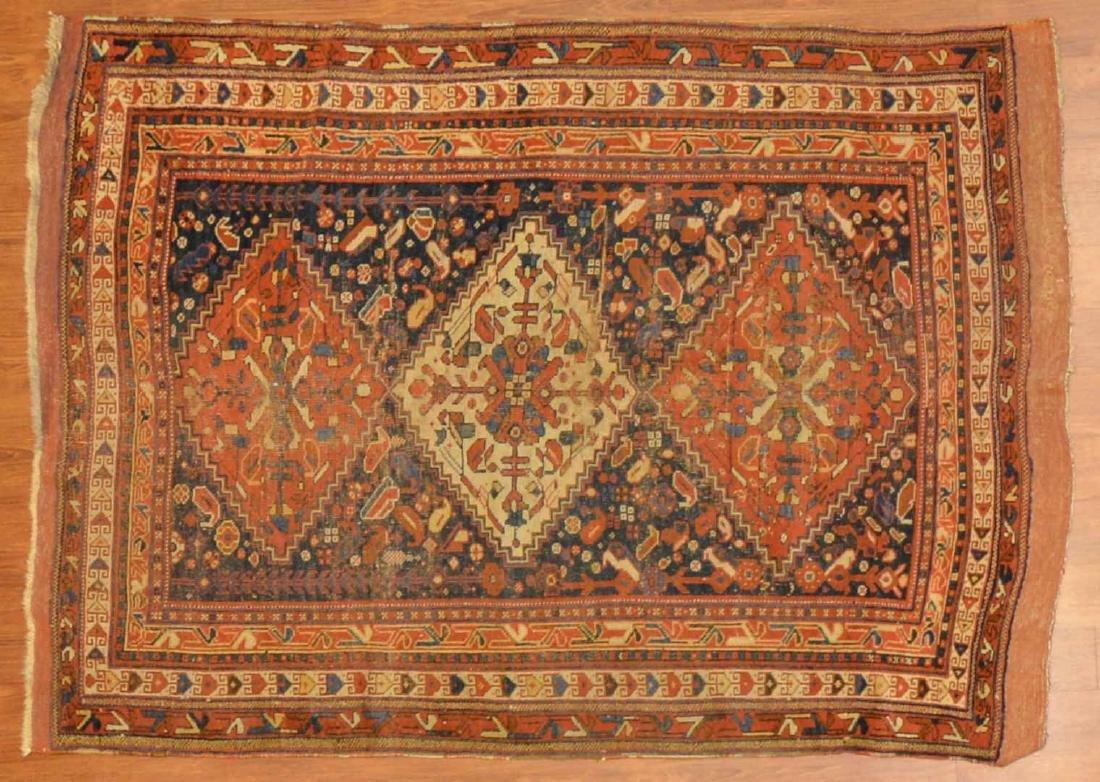 Antique Afshar rug, approx. 3.11 x 5.6