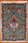 Fine Persian Tabriz scatter rug approx 25 x 37