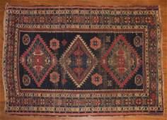 Antique Caucasian rug, approx. 3.8 x 5.2