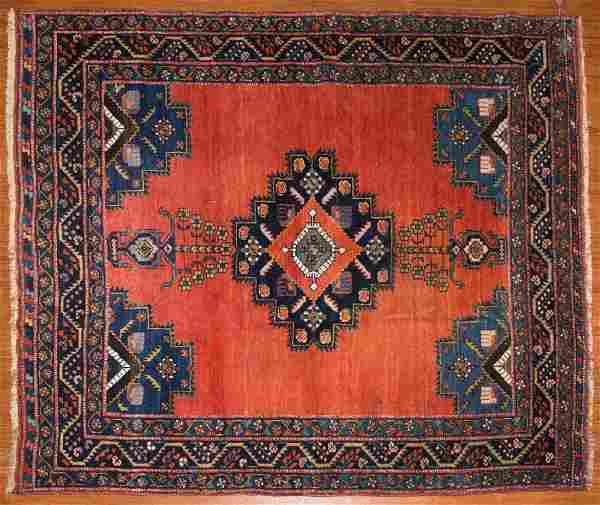 Antique Afshar rug, approx. 4.4 x 4.11