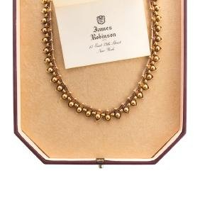 A Victorian Necklace In 15K Yellow Gold