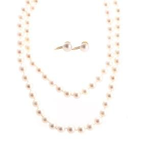 A Suite Of Very Fine Pearl Jewelry