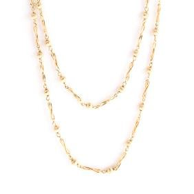 A Lady's 14K Long Chain Necklace