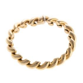 A Lady's Heavy 14K San Marco Bracelet