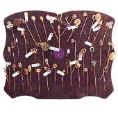 A Collection of Stick Pins Featured on a Board