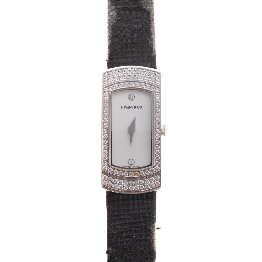 A Lady's Tiffany & Co. Diamond Watch in 18K