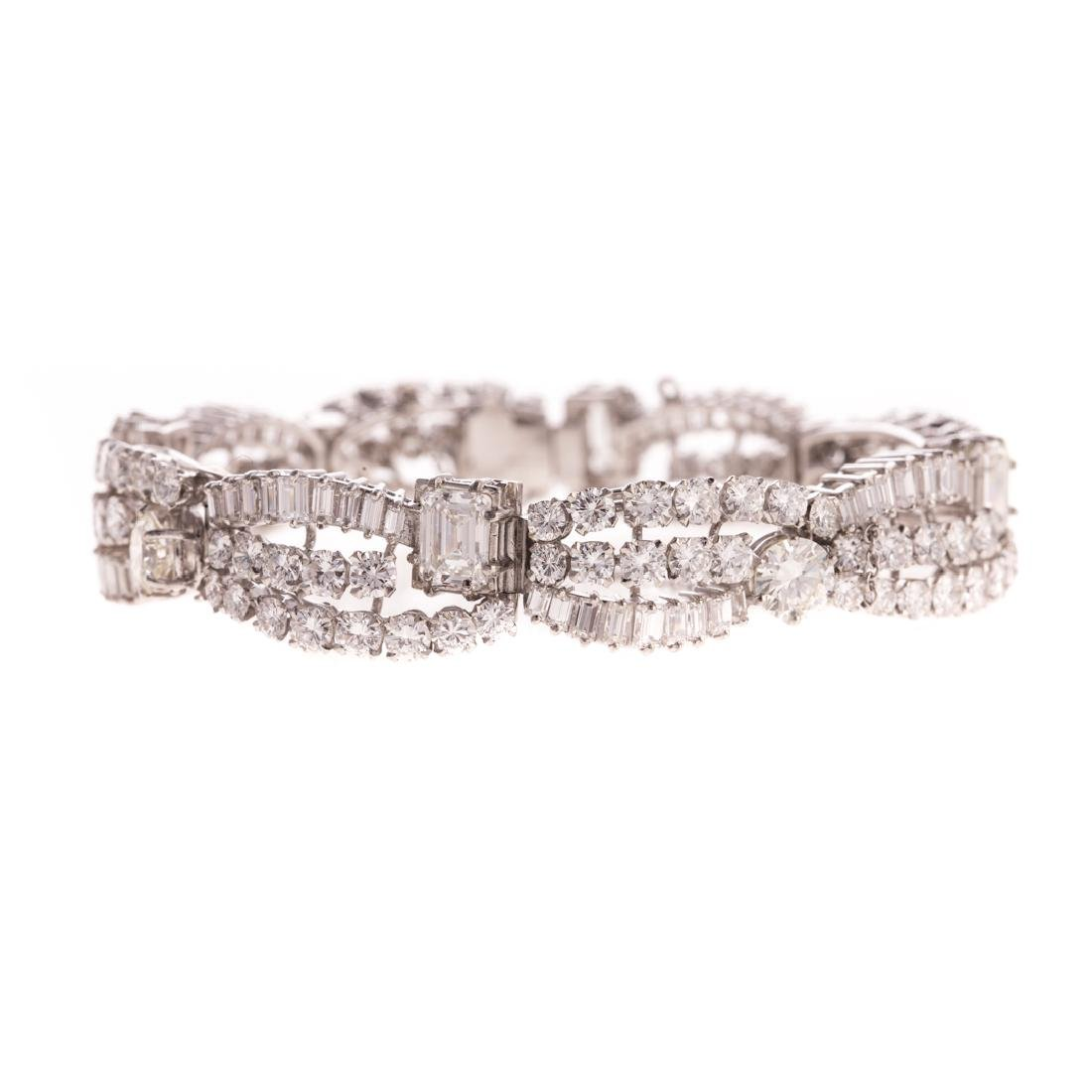 An Important Lady's Diamond & Platinum Bracelet