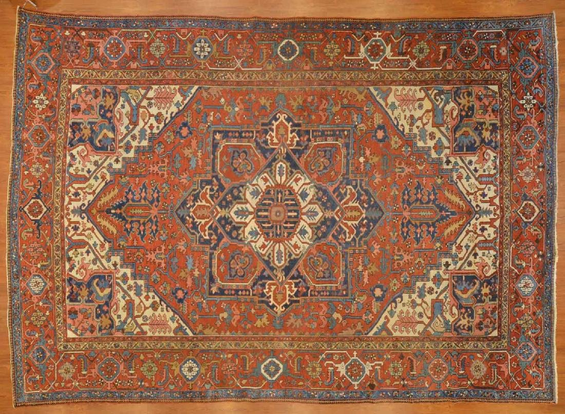 Antique Serapi carpet, approx. 9.5 x 13.3