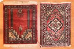 Persian Hamadan and Pakistan prayer rug
