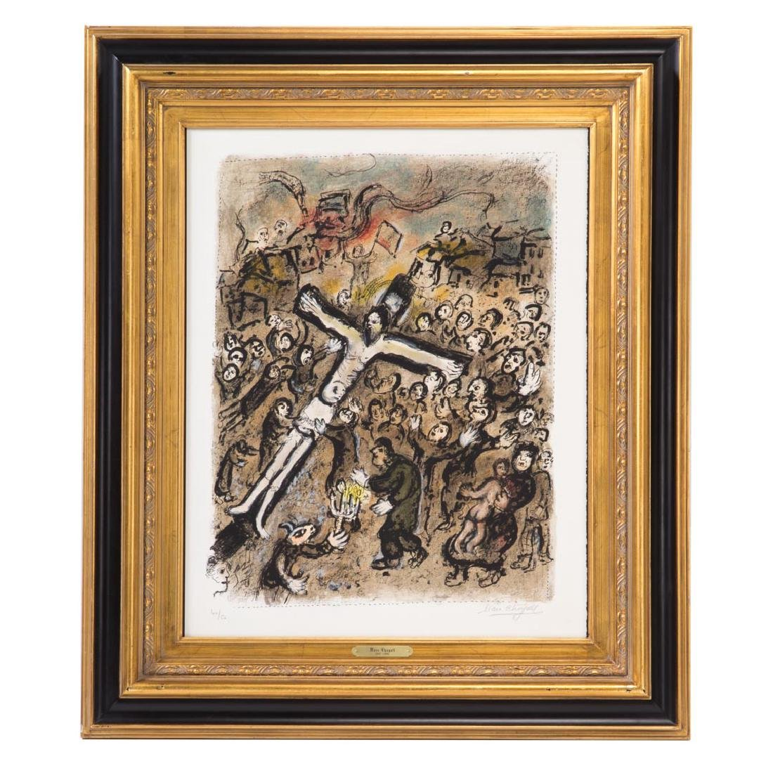 "Marc Chagall. ""The Martyr,"" color lithograph"
