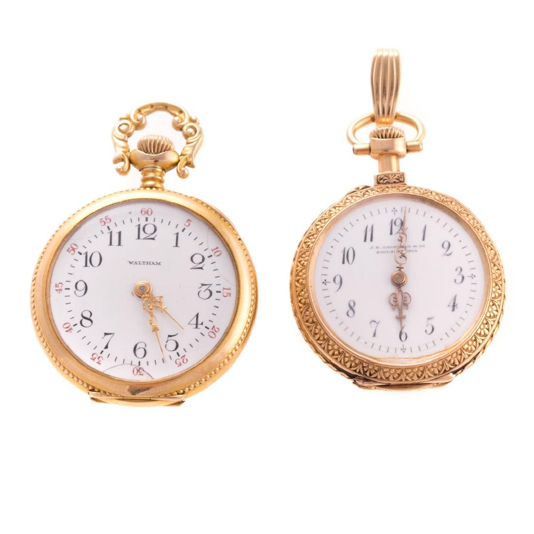 A Pair of Lady's Pocket Watches in Gold