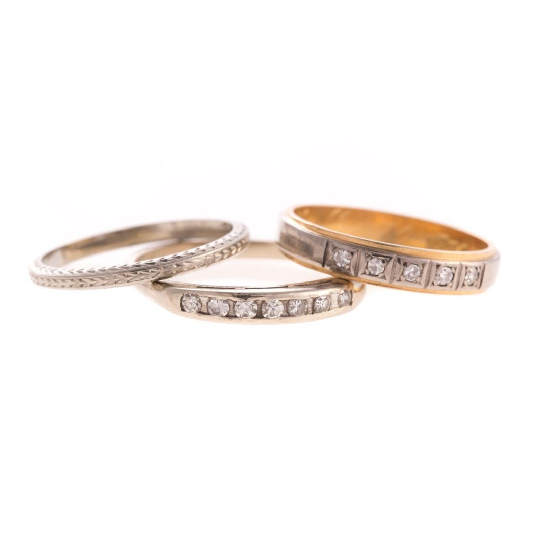 A Trio of Lady's Wedding Bands