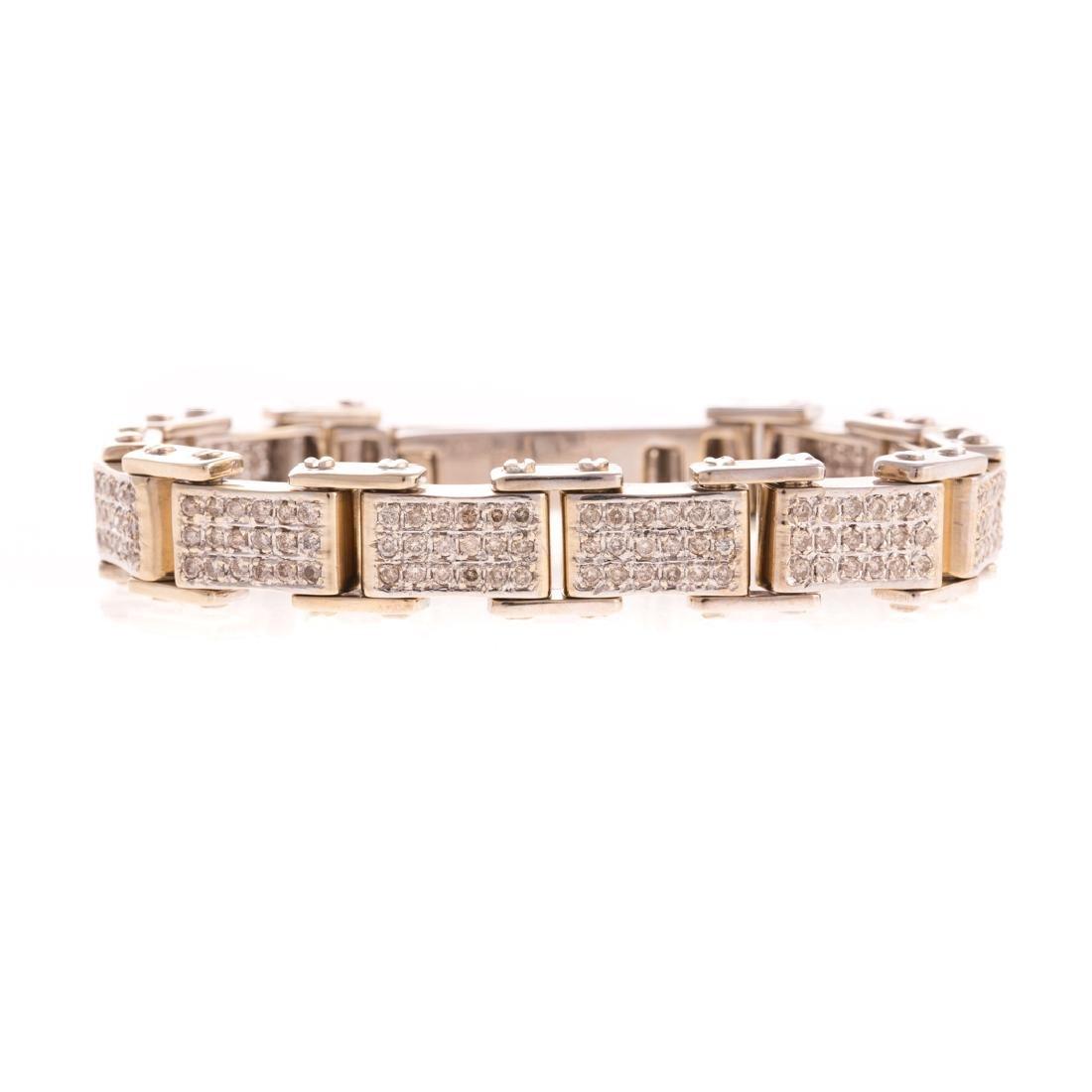 A Gentlemen's Diamond Bracelet in 18K