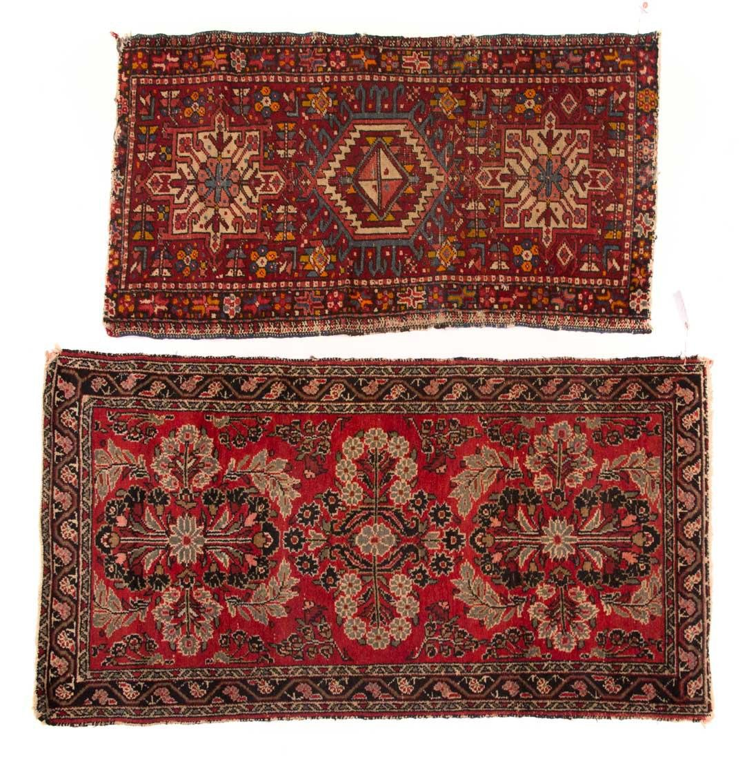 Two Persian scatter rugs, Iran, circa 1960