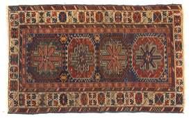 Antique Kuba rug, approx. 3.6 x 5.8
