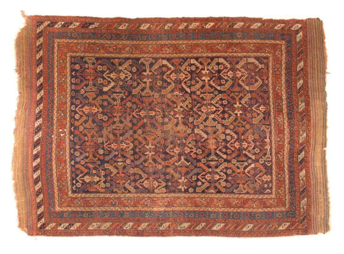 Antique Afshar rug, approx. 4.3 x 5.10