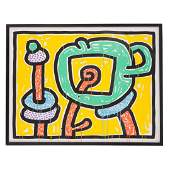 "Keith Haring. ""Flowers III,"" screenprint"