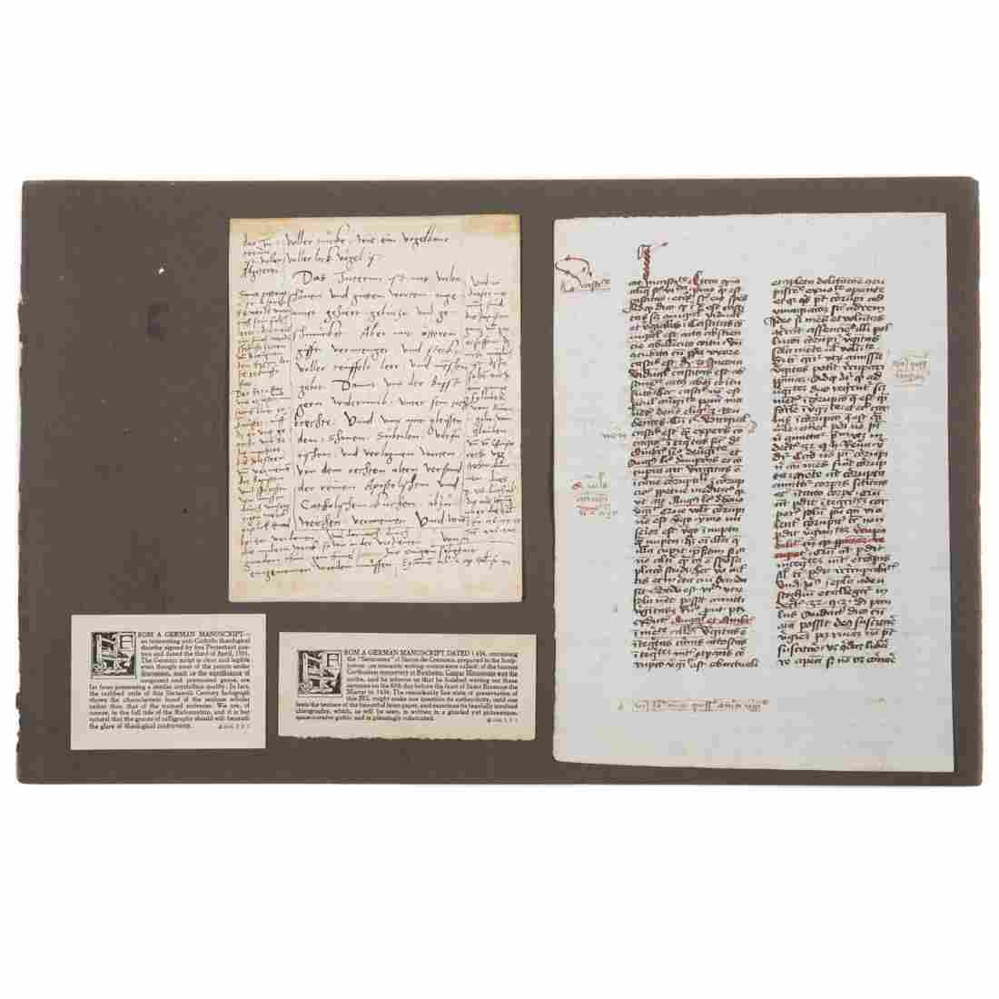 Two German Manuscript pages