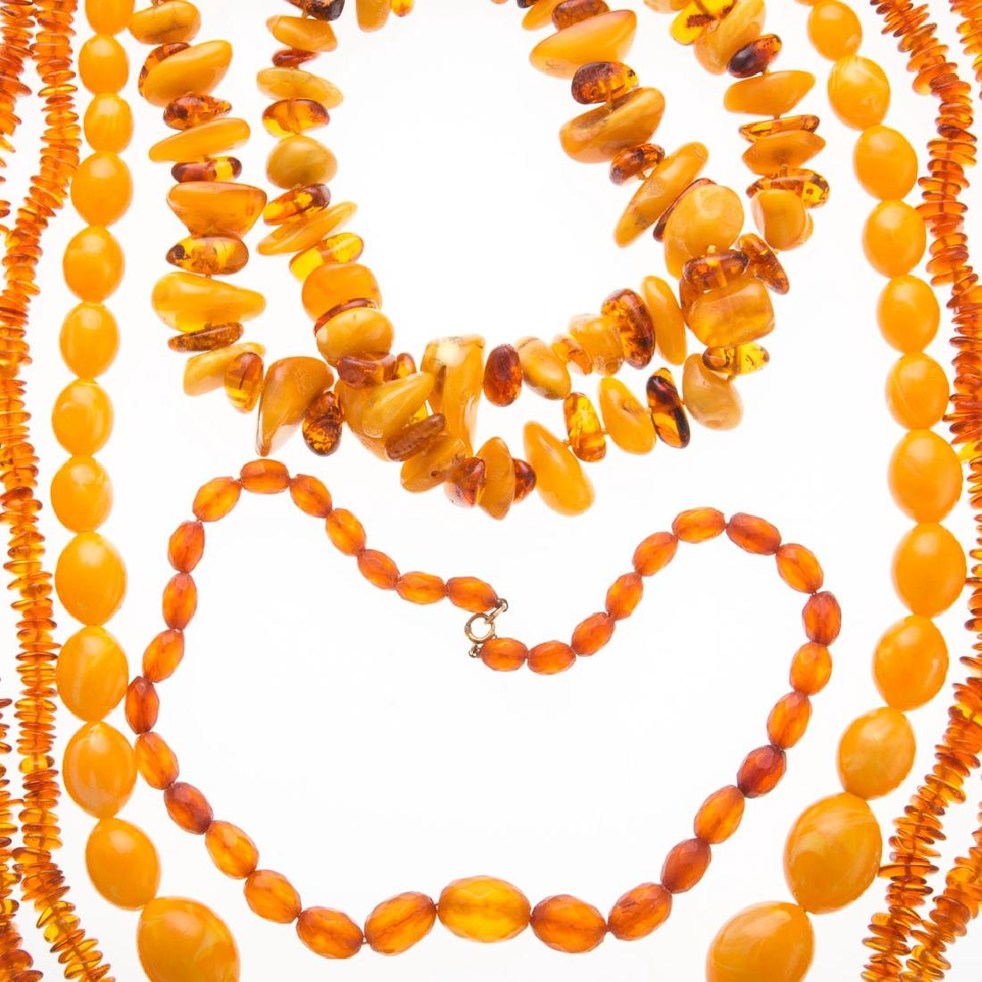Five Lady's Amber Necklaces - 2