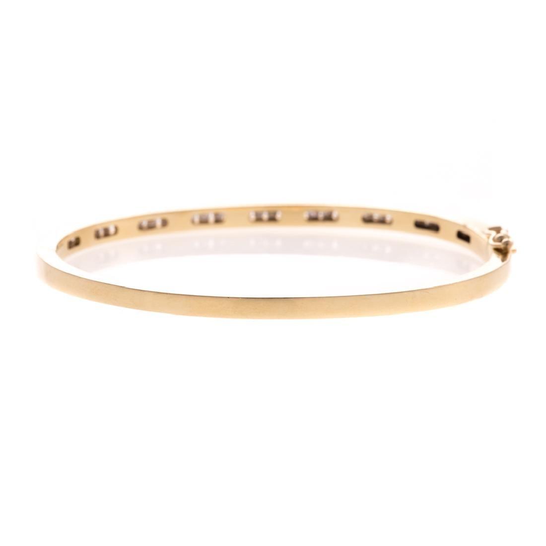 A Lady's Diamond Bangle Bracelet in 14K Gold - 3