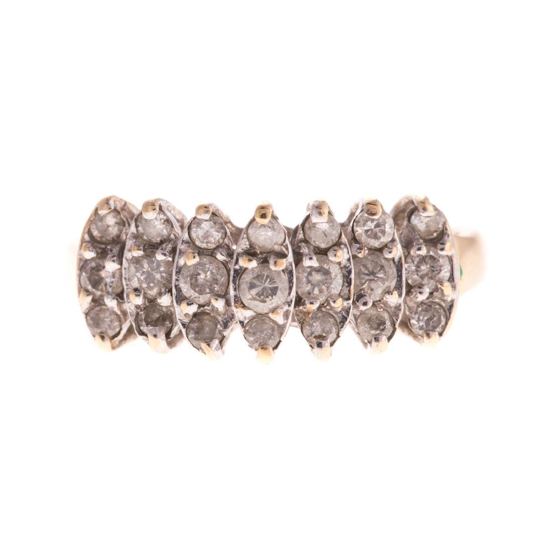 A Lady's Diamond Ring in 10K Gold