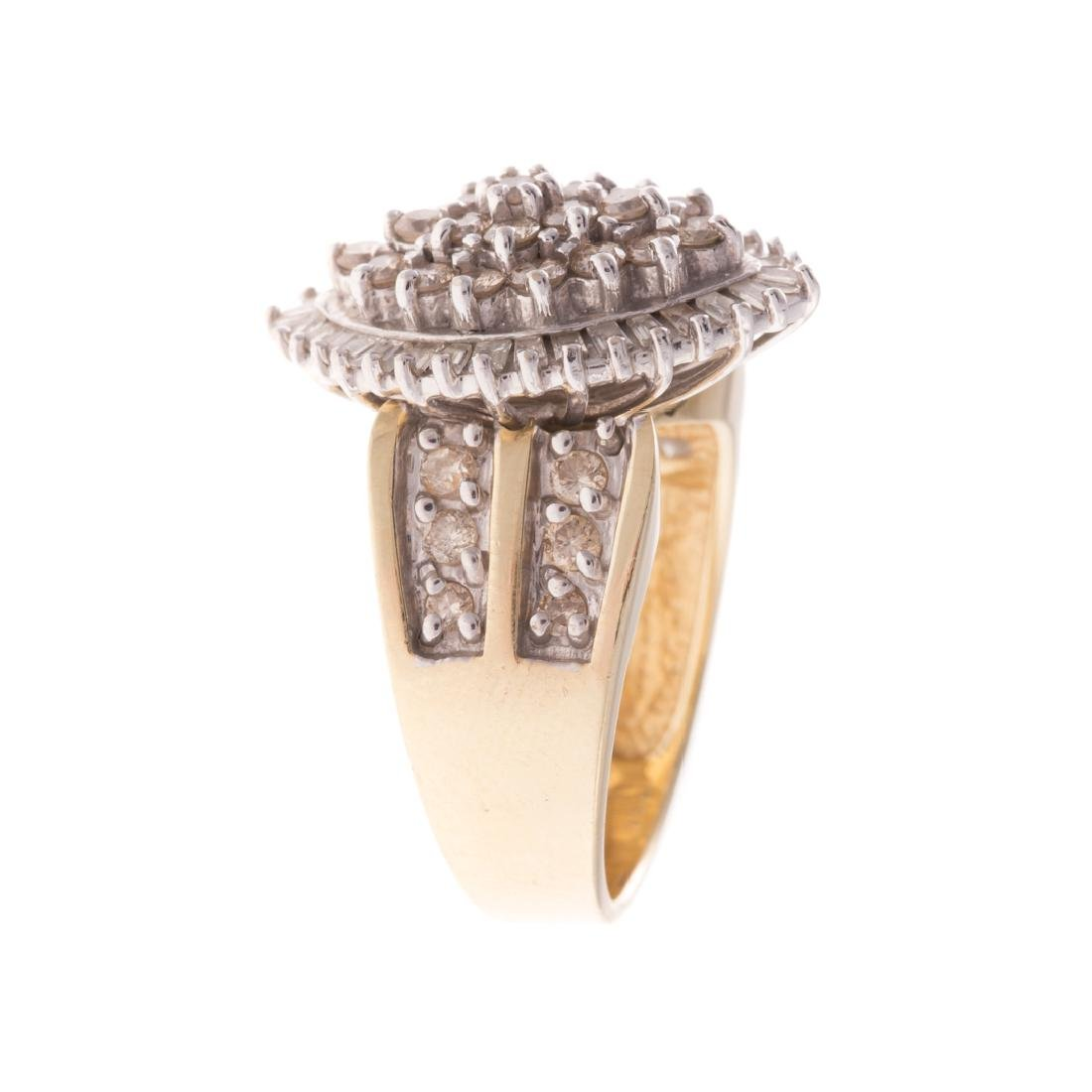 A Lady's Diamond Cocktail Ring in 14K Gold - 2