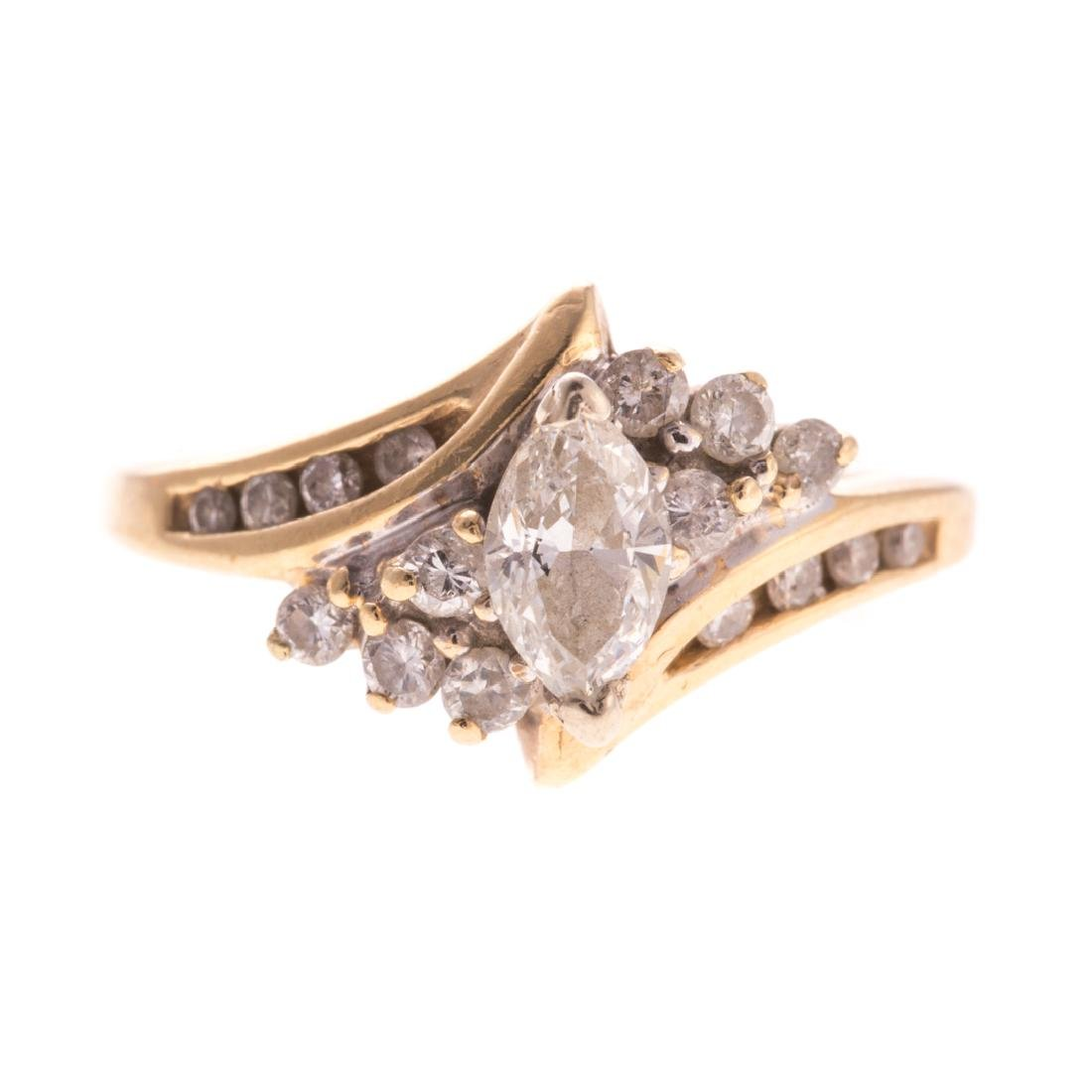 A Lady's Marquise Diamond Ring in 14K Gold