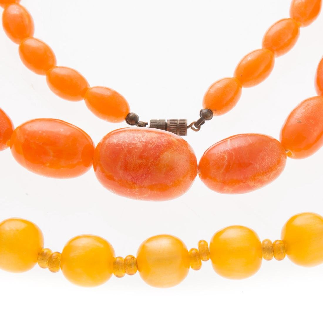 A Collection of Lady's Amber Necklaces - 2