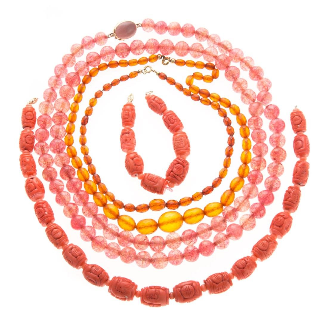 A Collection of Lady's Beaded Necklaces