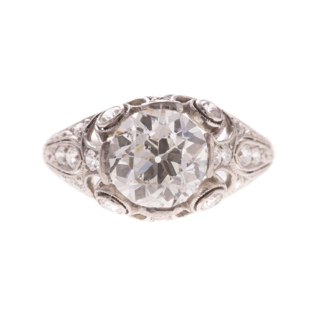A Lady's 1.75 ct. Round Diamond Ring in Platinum