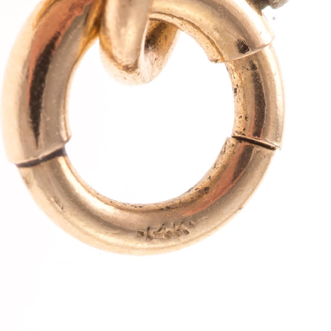 A Lady's Open Link Bracelet in 14K Gold - 4