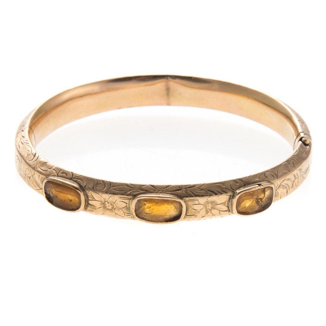 A Trio of Vintage Bangle Bracelets in Gold - 3