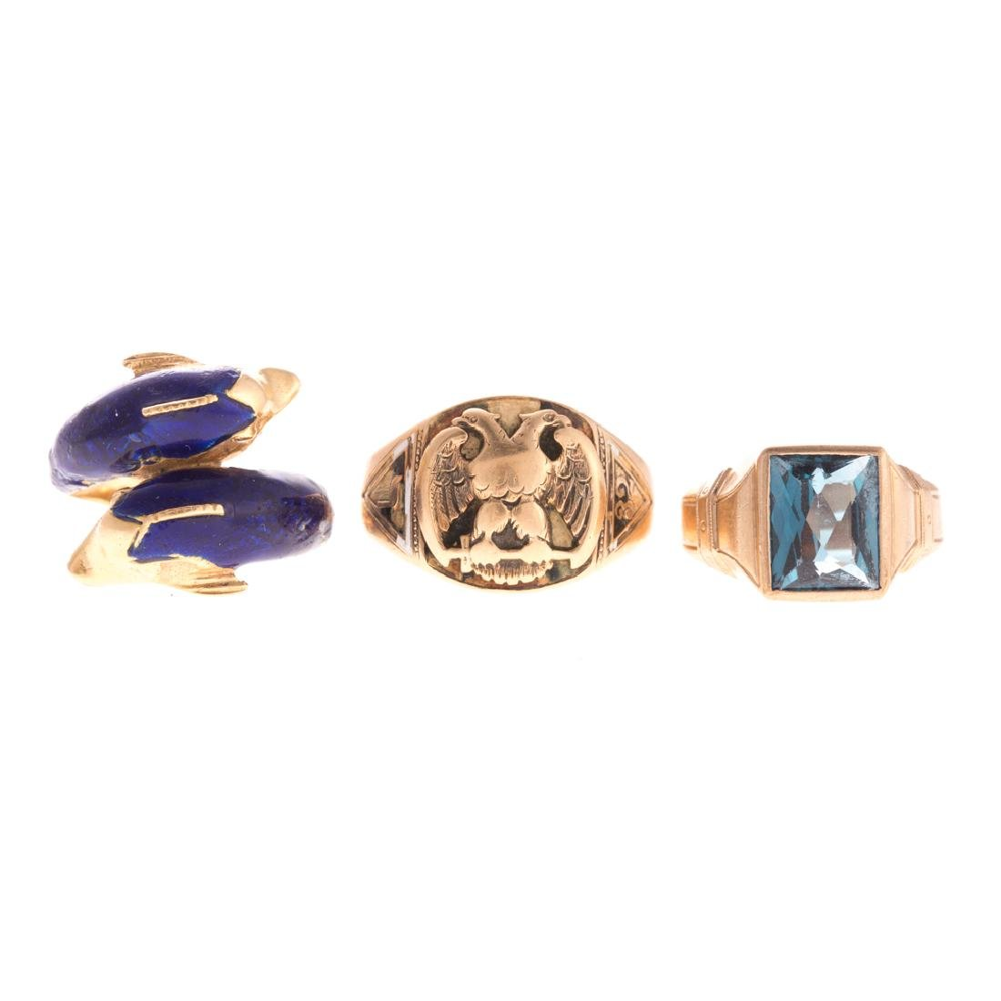 A Trio of Rings in Gold