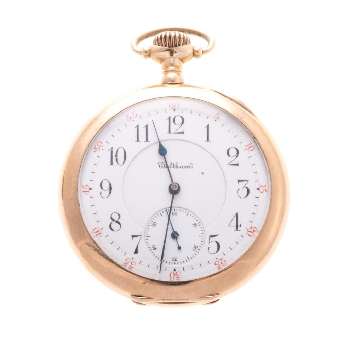 A Gentlemen's Waltham Pocket Watch in 14K
