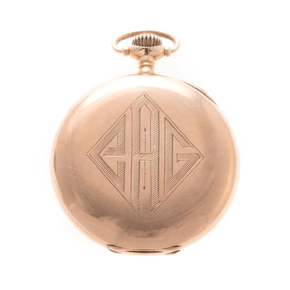 A Gentlemen's Waltham Pocket Watch in 14K - 2