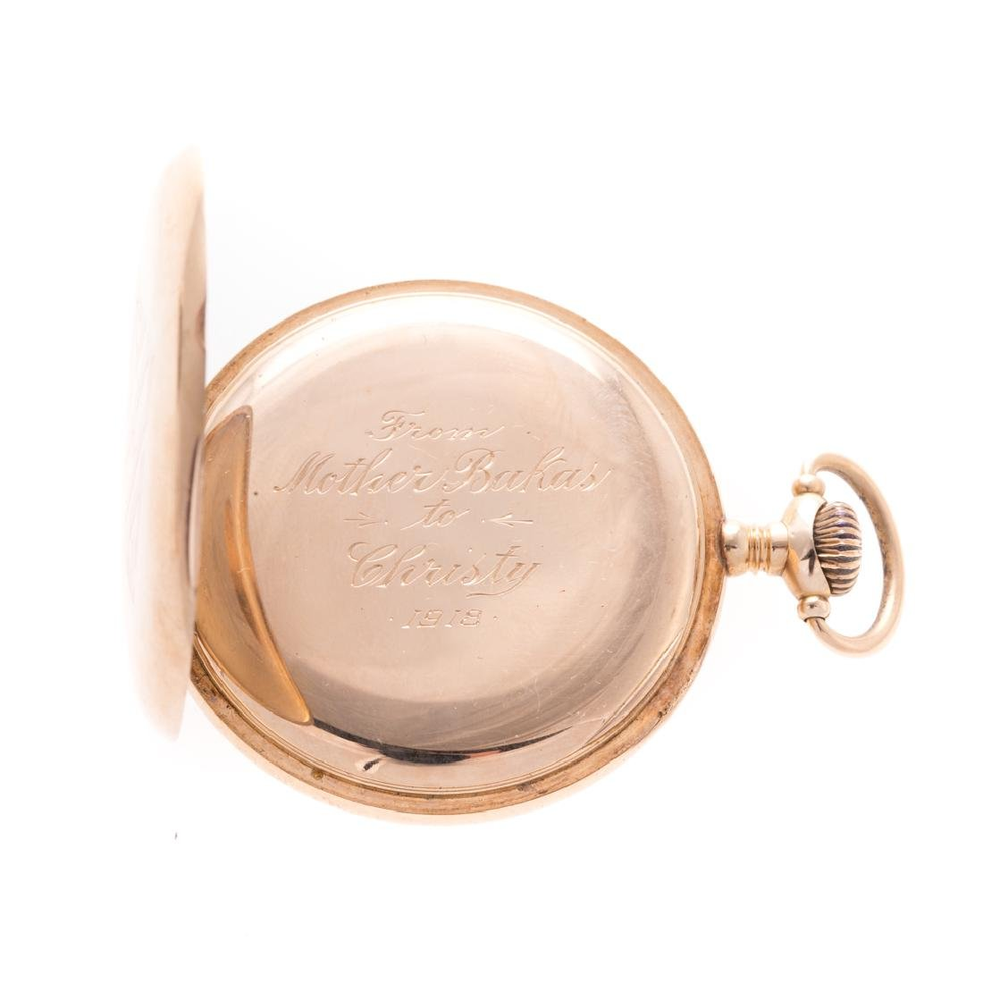 A Gentlemen's Waltham Pocket Watch in 14K - 3