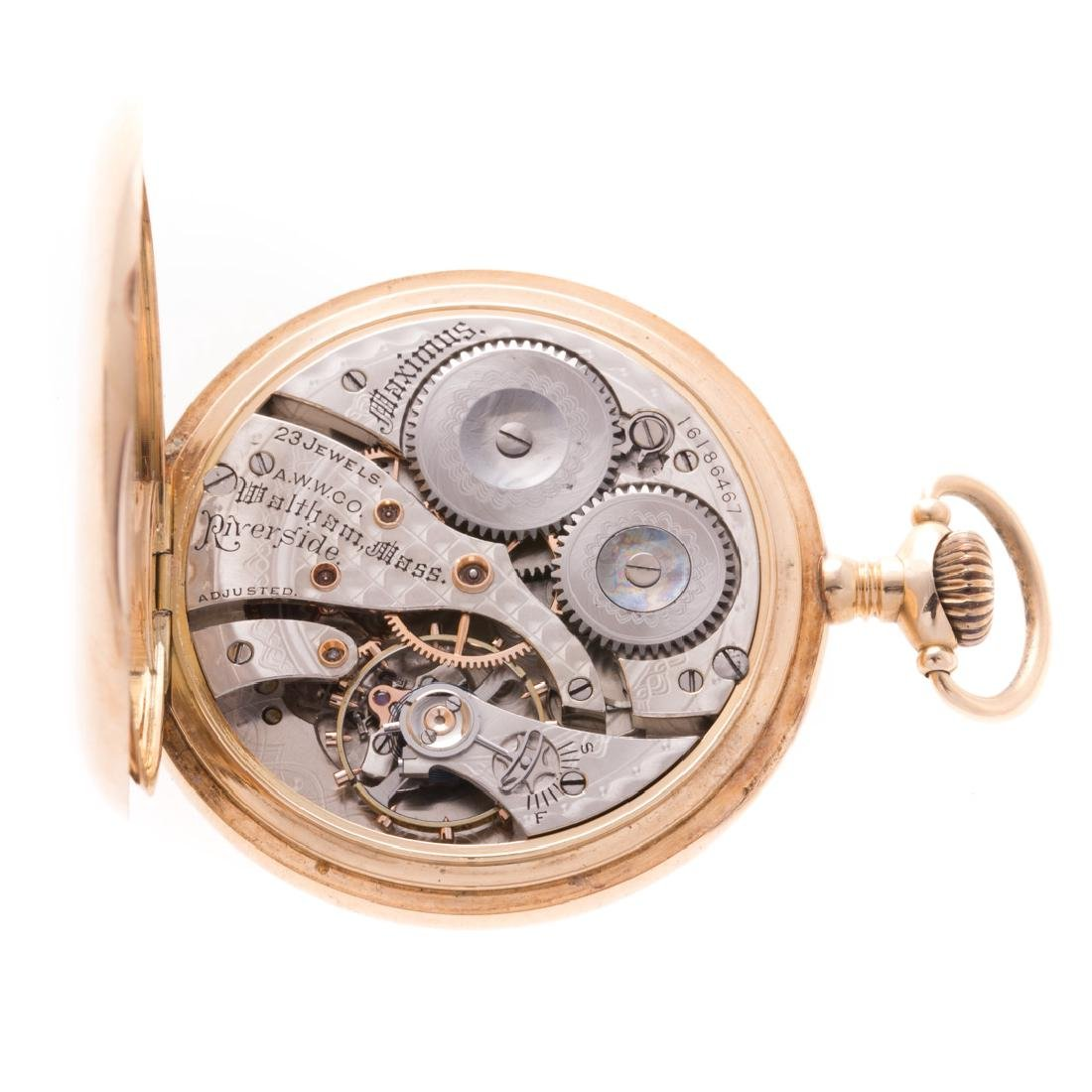 A Gentlemen's Waltham Pocket Watch in 14K - 4