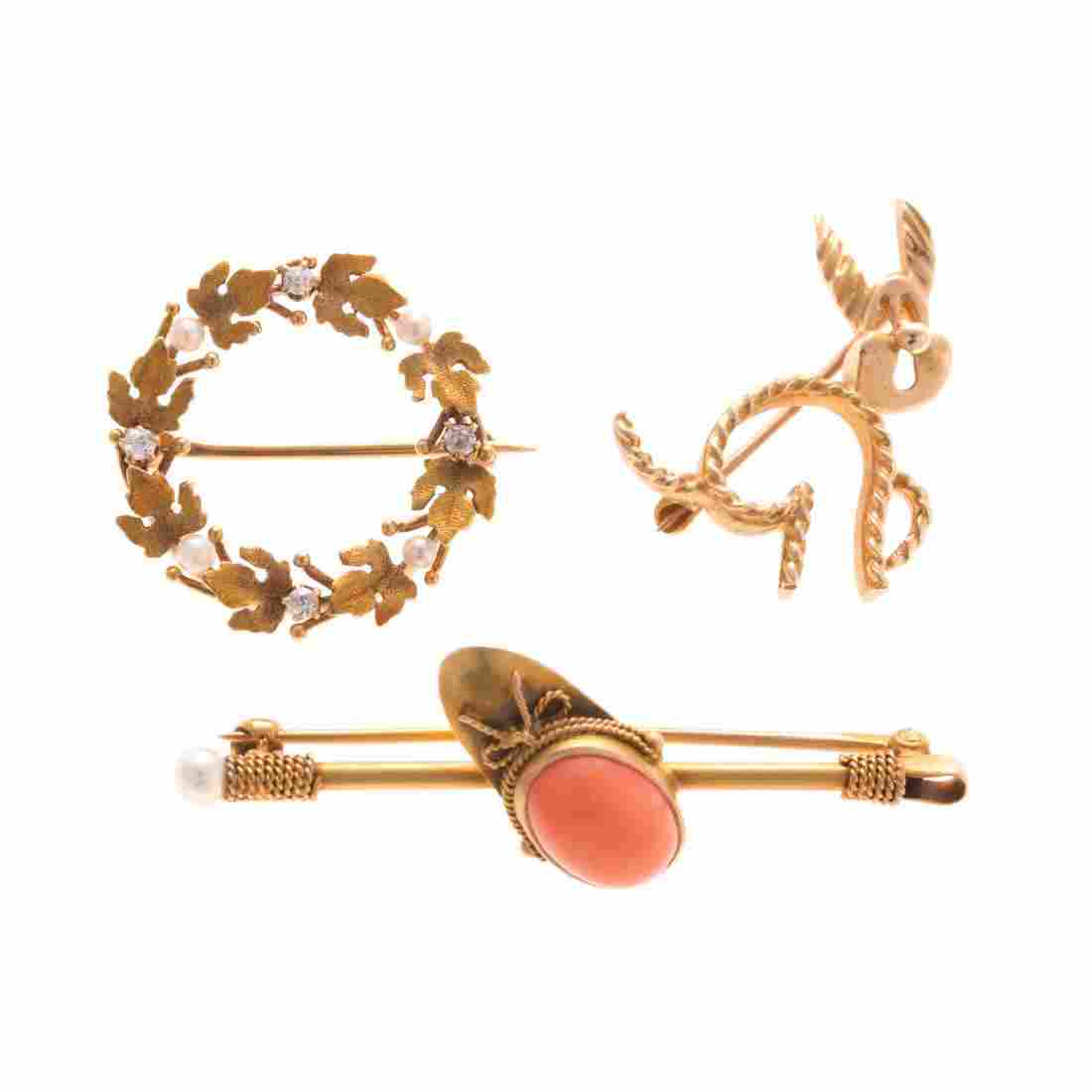 A Trio of Lady's Brooches