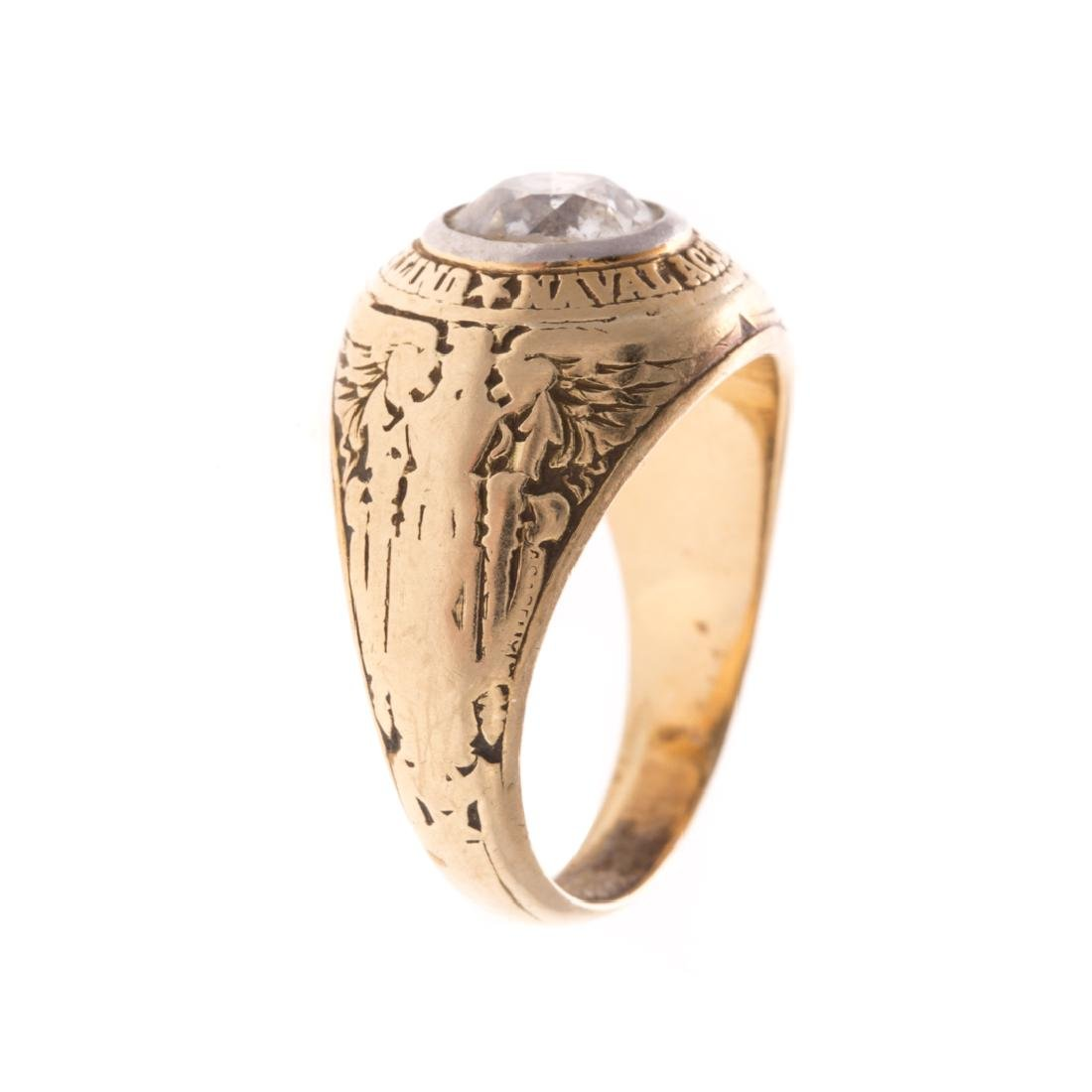 A Lady's Miniature US Naval Academy Ring in 14K - 2
