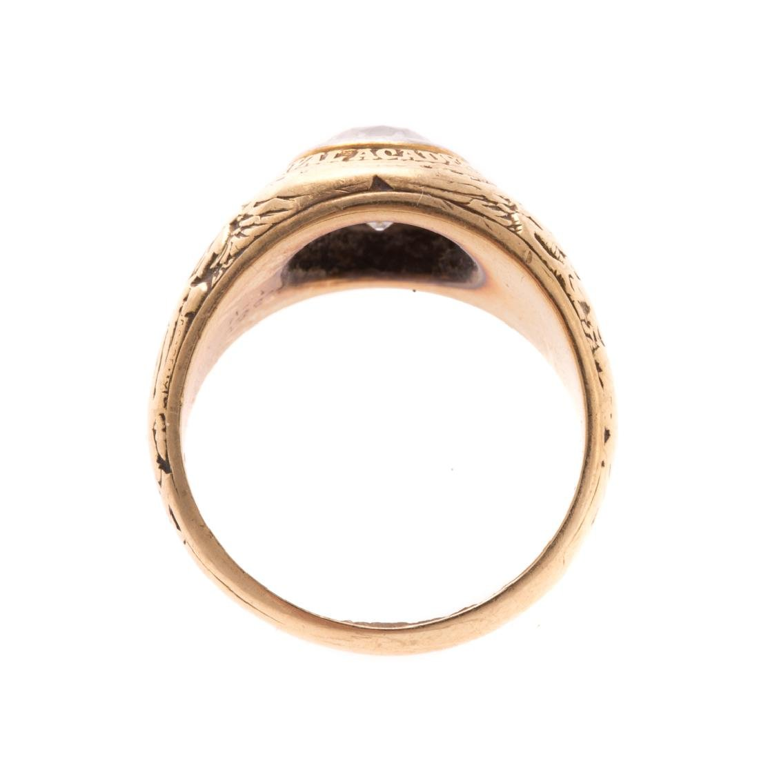 A Lady's Miniature US Naval Academy Ring in 14K - 3