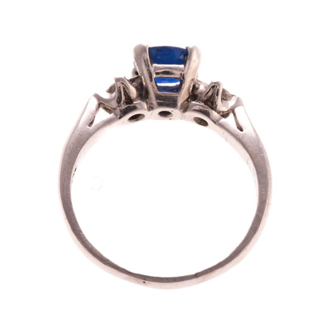 A Lady's Platinum Sapphire and Diamond Ring - 3