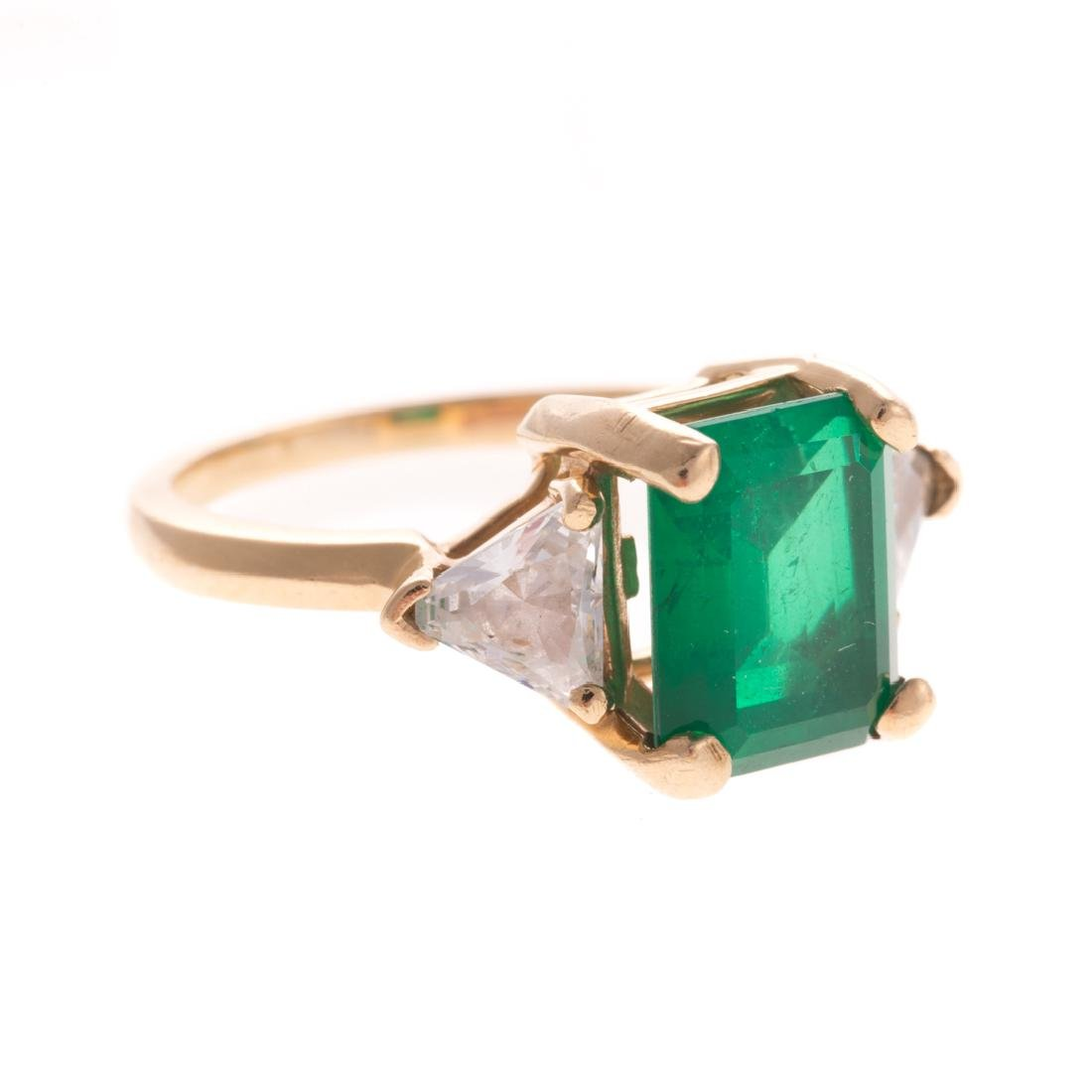 Two Lady's Gemstone Rings in 14K Gold - 3