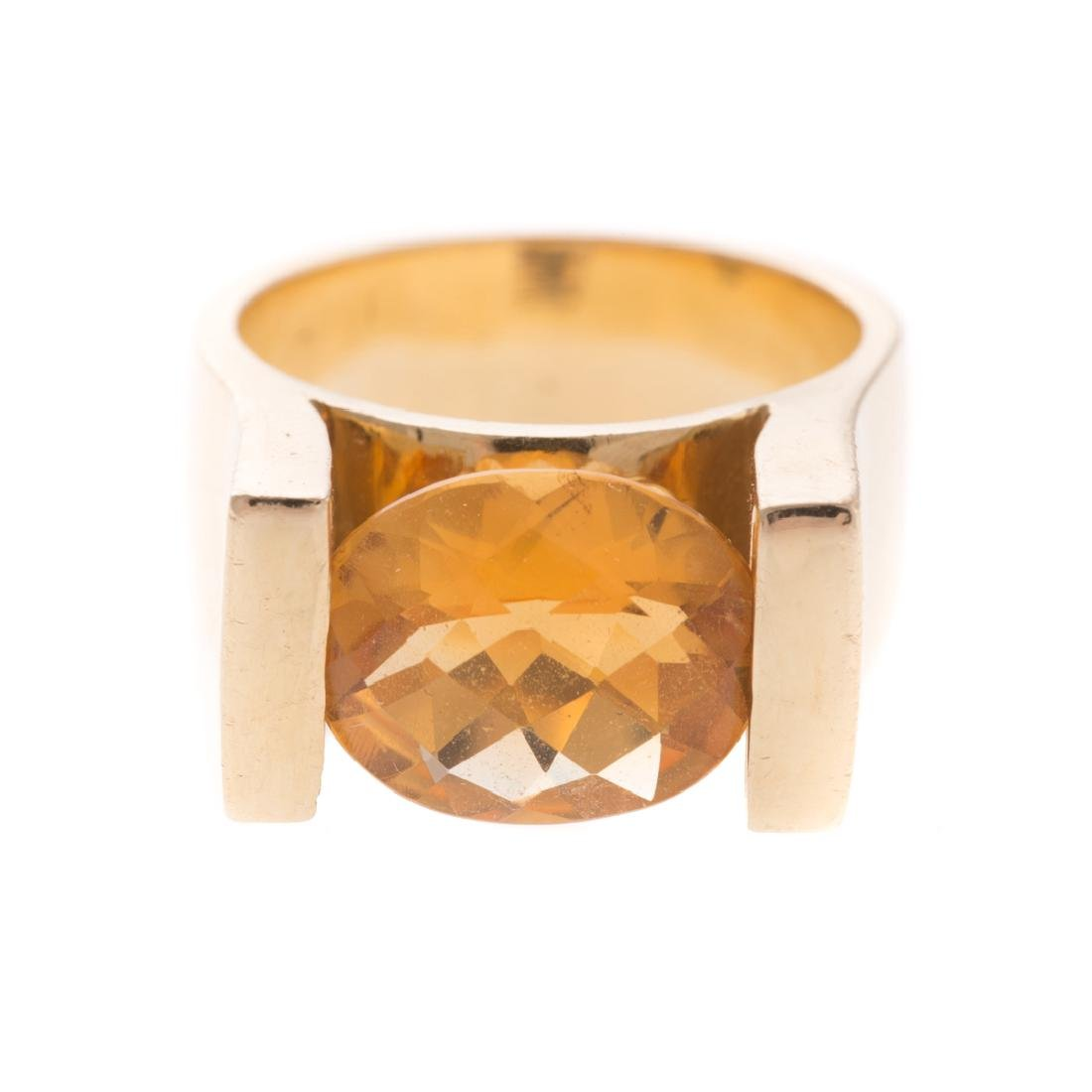 A Lady's Citrine Ring in 14K Gold